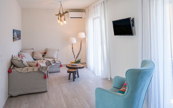 """Korfu, Kreikka: """"T'adelfia"""" is a little gem, completely refurbished, in a green Mediterranean setting, where the prominent shade of yellow will remind you of the true colours of the island of Corfu."""