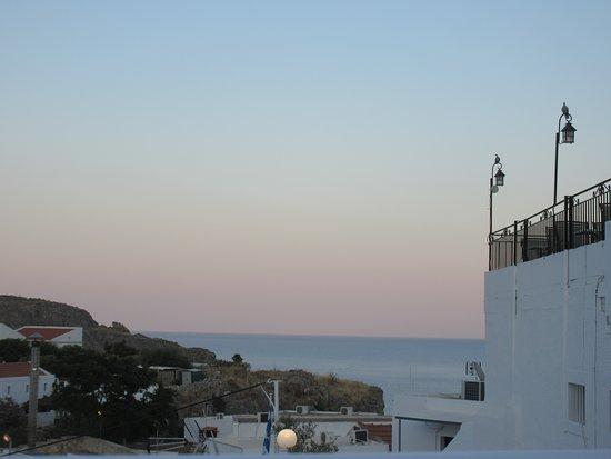 Blick auf das Meer vor Lindos