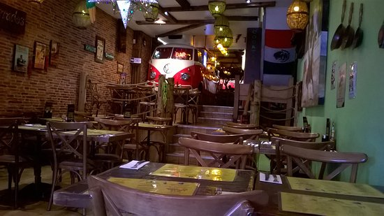 Restaurant Interior With Vw Campervan Bar Picture Of Desperados Restaurant Angel London Tripadvisor