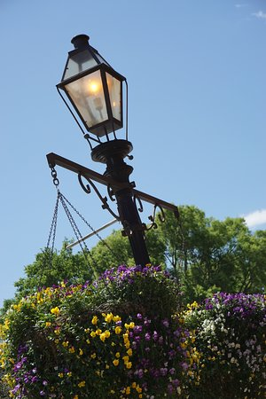 Historic District Shopping: One of the lamp posts