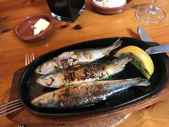 Thursford, UK: Grilled sardines