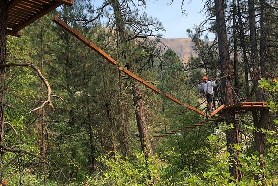 Cascade Ropes Challenge and Ziplines