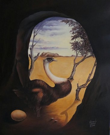 VISAGE DE VAN GOGH Visage Van Gogh surealsim   surréalisme Mourad Fouad