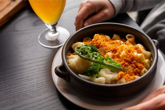Our homemade mac and cheese is a favourite amongst regulars and is just one of the many delicious menu options. Cabinet selection also available.
