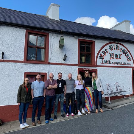 A tour group on our Taste the North Donegal Food Tour