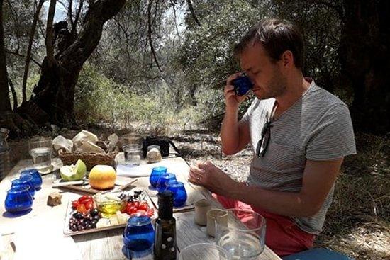 Degustación de aceite de oliva en un...