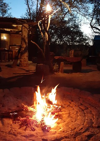 Relaxing around the fire in Nyala camp