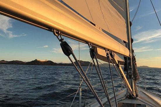 Cena a bordo y navegación privada al atardecer (6p máx.): Dinner Onboard and Sunset Sailing Private Tour (For max 6p)