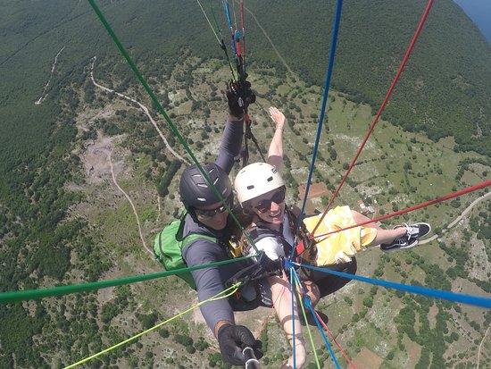 Paragliding Tandem Flights: Flying over Ohrid Lake from 1640 ASL