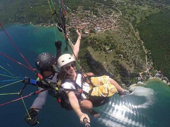 Paragliding Tandem Flights: Above Trpeica village, Ohrid's last traditional fishing village