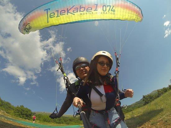 Paragliding Tandem Flights: taking-off