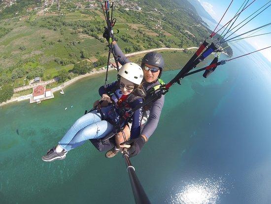 Paragliding Tandem Flights: High above Ohrid lake, program 1
