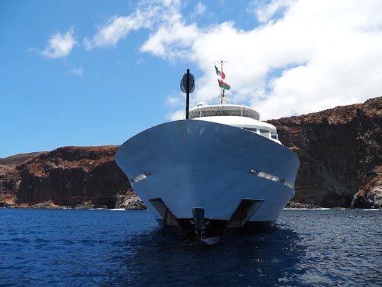 Proa, eslora 52 metros, es enorme y diseñado para el buceo.