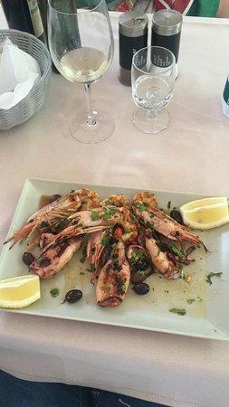Ristorante Pizzeria Vesuvio: Gamberoni e calamari alla griglia! Top