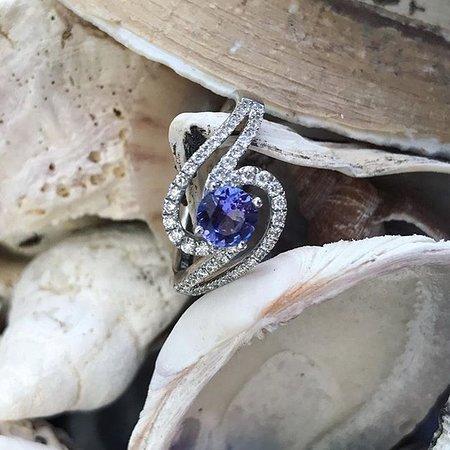 Handmade Tanzanite and diamond pendant