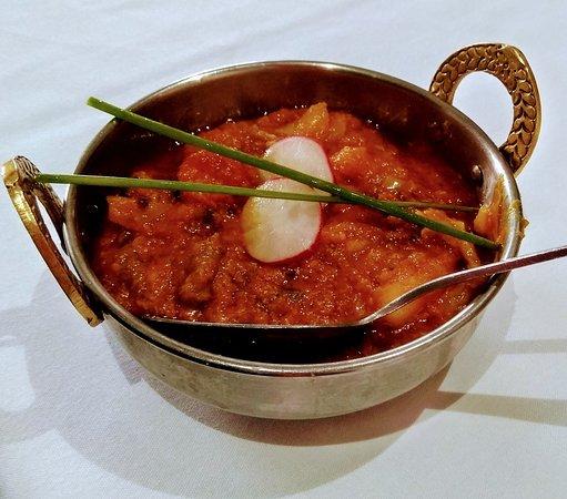 Biryani and vegetable curry