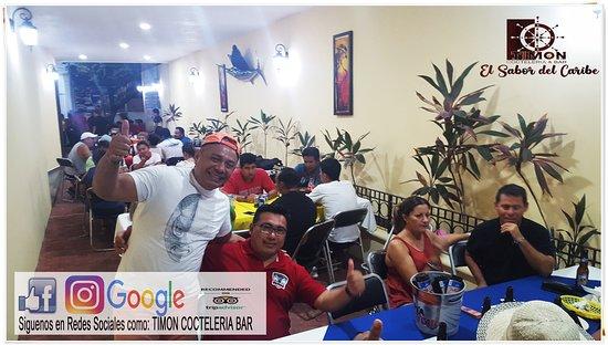 TIMON Cocteleria Bar Agradece a todas las familias, amigos y jugadores de Futbol que nos acompañaron el pasado fin de semana. Asi como ellos, te invitamos a disfrutar del verdadero Sabor del Caribe!  LOS ESPERAMOS! :) En la 11av entre 25 & 30 #533 aun costado del Laurel  #Restaurante #FindeSemana #Bar #Cozumel #IslaCozumel #Cocteleria #SeaFood #BarFamiliar #Cubetazo #Cerveza #Desayunos #Breakfast #Lunch #Dinner #Comida #Cena #Beer #BucketOfBeer #RestaurantBar #LocalRestaurant