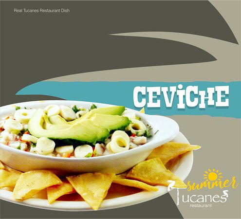 TUCANES Restaurant: Ceviche - Costa Rican Style - marinated raw fish -