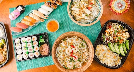 Sushi Maki sets + Pho soup and Main dishes