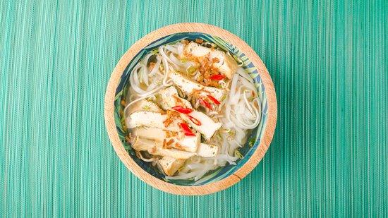 Fried tofu Pho soup