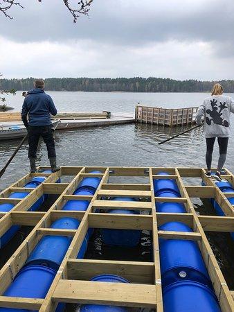Loftahammar, สวีเดน: Bygget av Bastuflotte