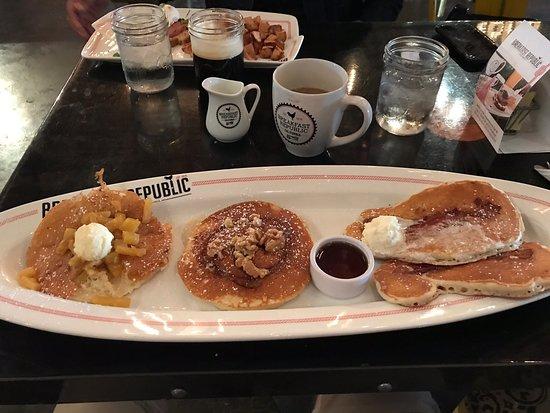 Biggest plate of pancakes