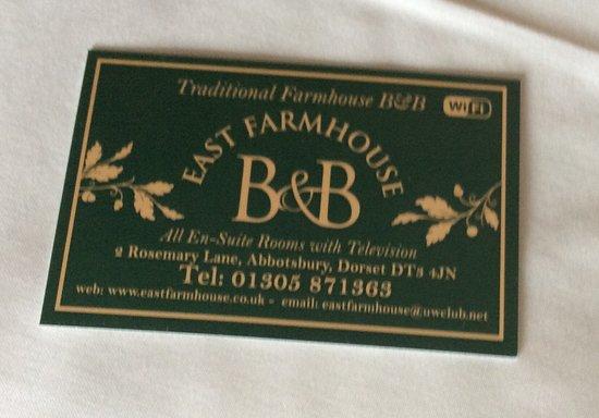 East Farm House B&B