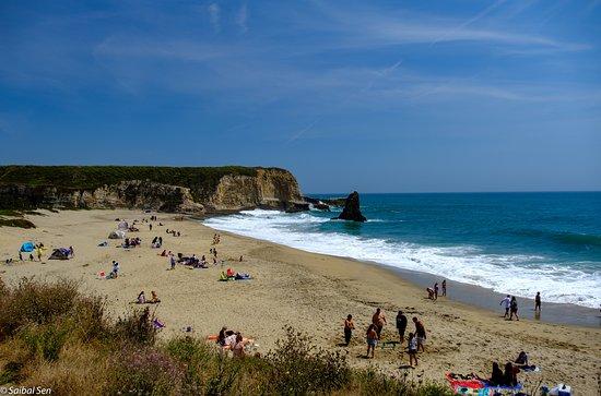 Spectacular view of the hidden beach