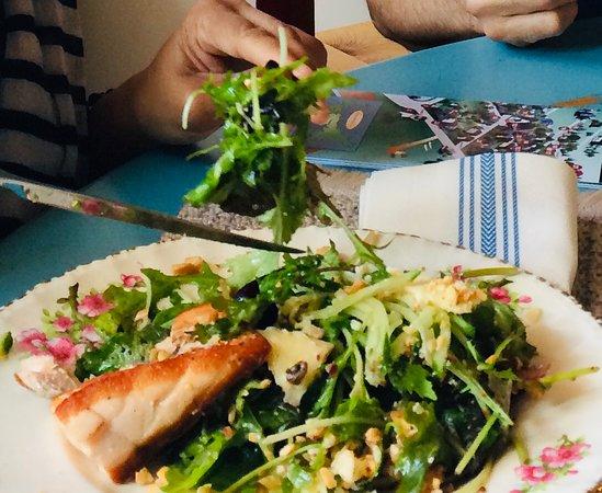House Green Salad and Salmon