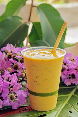 Mango Lassi with chia seeds