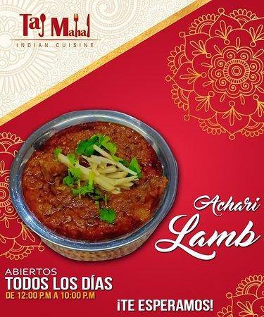 Taj Mahal Indian Cuisine: Lamb delicioso