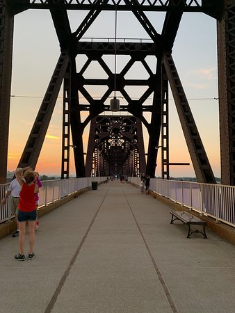 Had a great time at the Big Four Bridge! The first thing you do in Louisville!