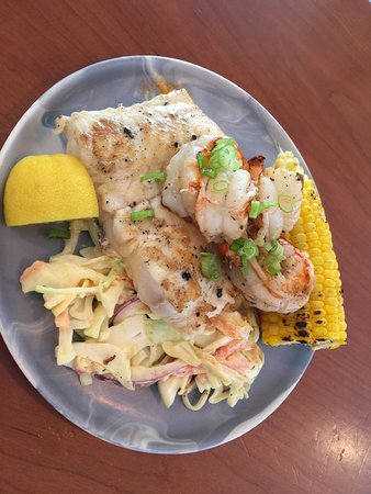 Whidbey Seafood Picnic - Grilled Wolf Fish, Shrimp
