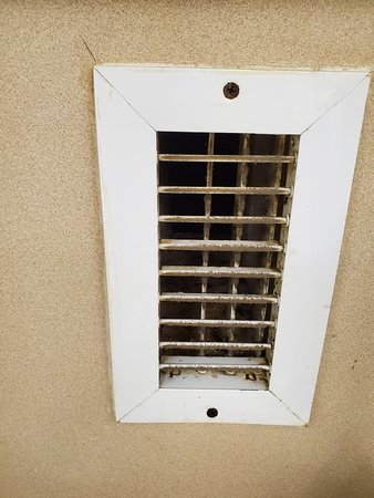 Dust/mold in the kitchen air vent.