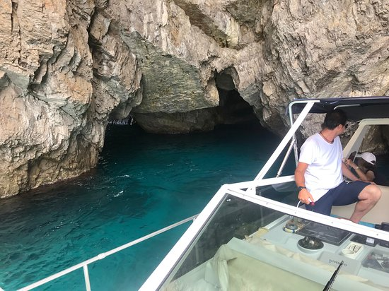 Capri shared boat tour from Sorrento: Green Cave