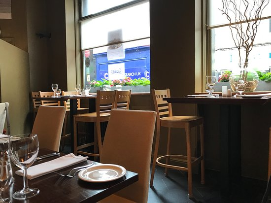 Inside Coast restaurant