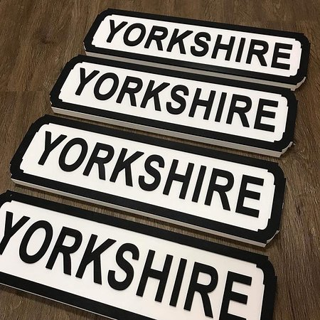 Yorkshire street signs