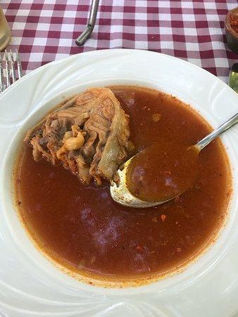 "Kovilj, เซอร์เบีย: Very tasty fish stew, With a bit of ""Ljuta tucana paprika"" (Dried spicy paprika)"