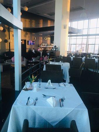 Akemi Revolving Restaurant: Table and chair arrangement within the restaurant.