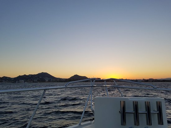Blue Sky Cabo Fishing and Tours: Sunset on the boat