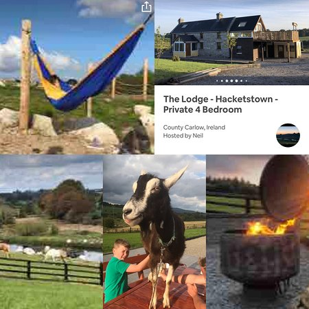 Omg this place the lodge Hacketstown. Absolutely fabulous spot. Best treat in a very long time from start to finish. The host Neil was so accommodating. This place just gets better and better the view are breathtaking