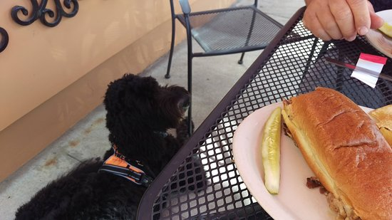 Shepherd, MI: Dog friendly patio