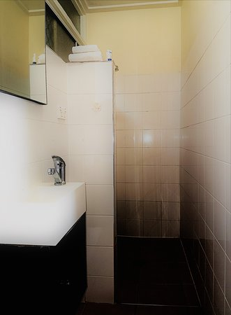Bathroom of our smaller double room.
