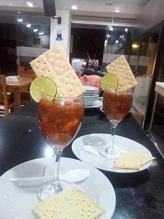 Cumaral, โคลอมเบีย: Ceviche de camarones