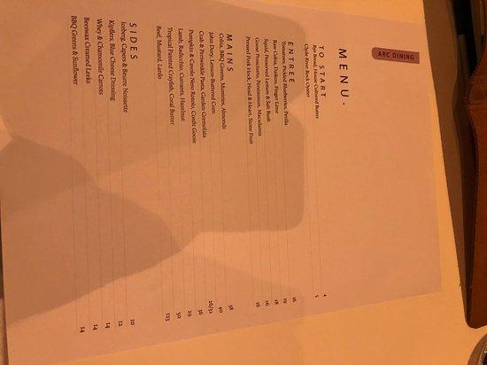 ARC Dining: menu