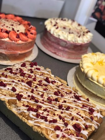 Our fantastic new range of cakes, Bakewell slice?