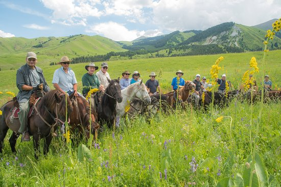 Horseback riding in Chong-Kemin valley