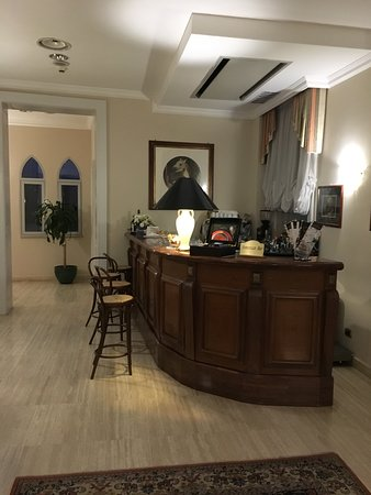 Bar off the reception desk