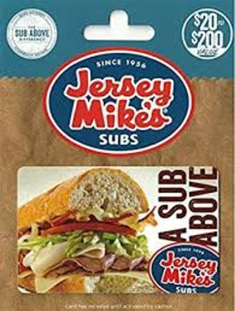 The Jersey Mike's gift card makes a great gift.