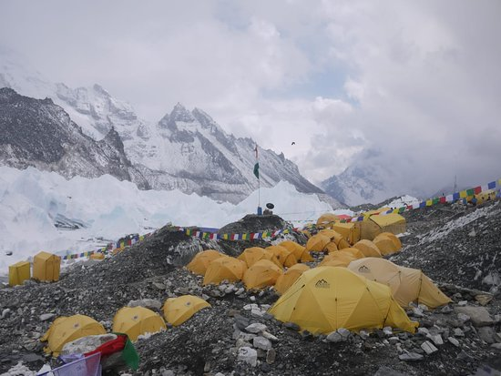Everest Expedition Groups at Base Camp